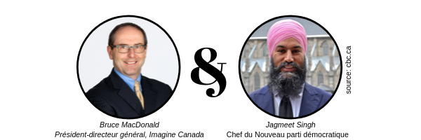 Photo of Bruce MacDonald and Jagmeet Singh