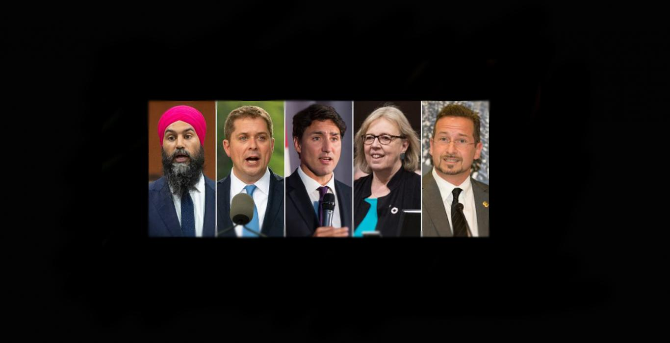 Five Main Canadian Party Leaders