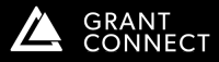 Grant Connect logo white on black